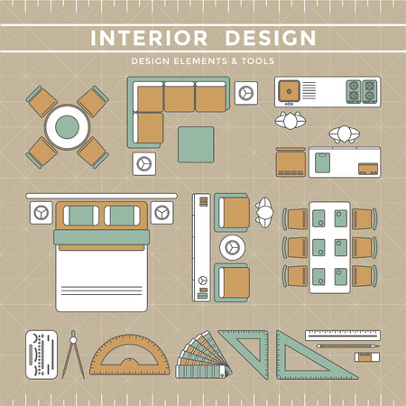 Interior Design Elements Equipment Tools Royalty Free Cliparts Vectors And Stock Illustration Image 39526135