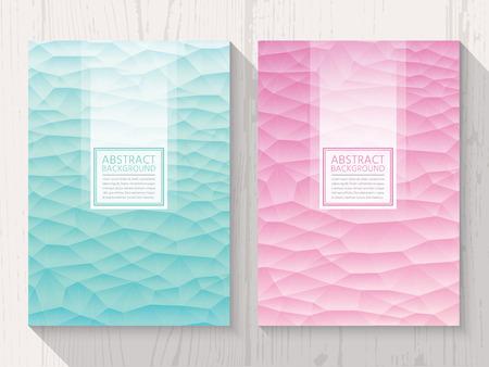a4: Pastel modern gems colour background set. Trendy background pastel colours. Illustration