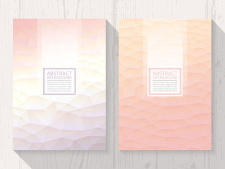 Pastel modern peach colour background set. Trendy background pastel colours.  イラスト・ベクター素材