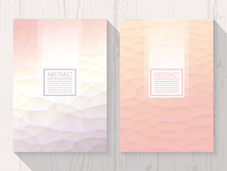Pastel modern peach colour background set. Trendy background pastel colours. Stock Illustratie