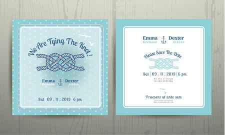 pattern pois: Corda di ancoraggio Nautico legare il nodo di nozze su carta Polka dot pattern ciano sfondo