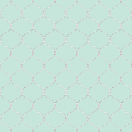 fishnet: Nautical rope seamless tied fishnet pattern on light blue background