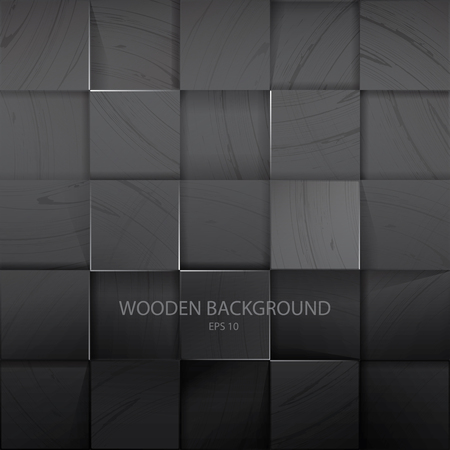 Stack Of The Dark Wooden Background with Shadow Иллюстрация