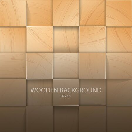 Stack Of The Light Wooden Background with Shadow Иллюстрация