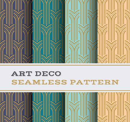 Art Deco nahtlose Muster mit 4 Farben Hintergrund