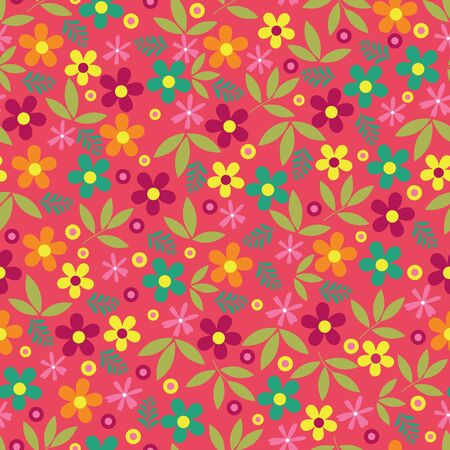 Colorful flowers seamless pattern background, floral pattern Фото со стока - 62138716