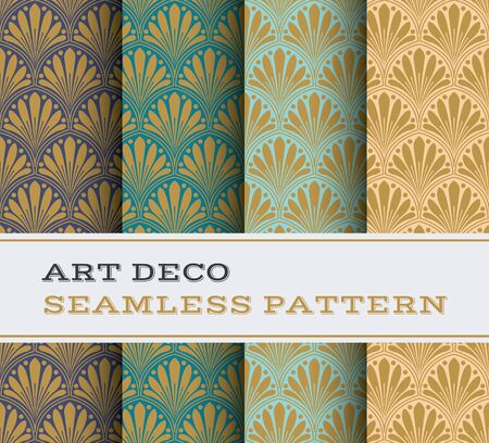 Art Deco seamless pattern with 4 colours background Фото со стока - 70462351