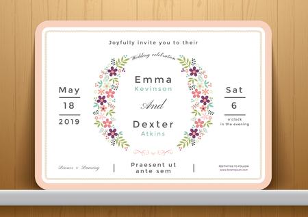 eleganz: Blossom Blumen Hochzeitseinladungskarte, speichern die Datumskarte
