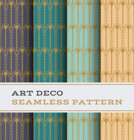 Art Deco seamless pattern with colours background Фото со стока - 99338823