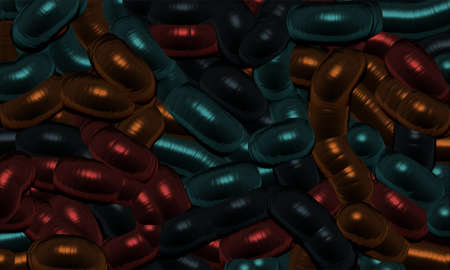 color 3d: abstract background serpentine color 3d render