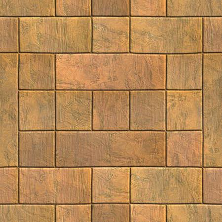 Brick wall texture generated. Seamless pattern.