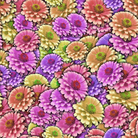 gerbera: Colorful background with Gerbera flower. Seamless pattern.
