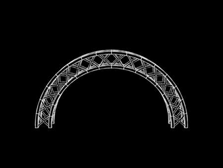 Arch truss. Isolated on black background.Sketch illustration.  Stock Photo