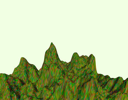 range: Abstract landscape. Mountain surface. Polygonal vector colorful illustration.