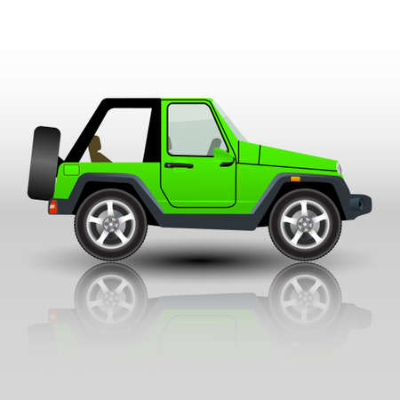 car off road SUV isolated. Vector illustration.