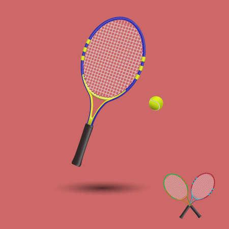 Tennis items isolated. Vector illustration. Illustration