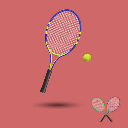 Tennis items isolated. Vector illustration. Ilustrace