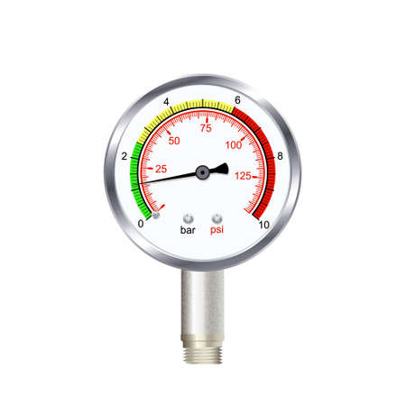 Realistic manometer isolated on white background. Vector illustration.