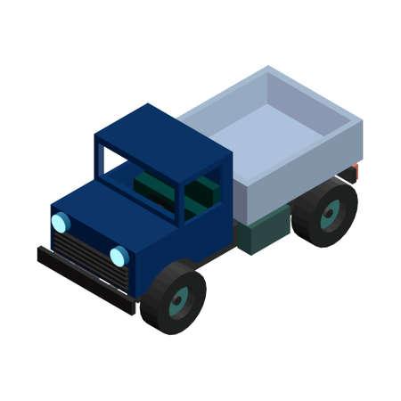 mode of transport: isometric 3D truck. Vector illustration.  Illustration