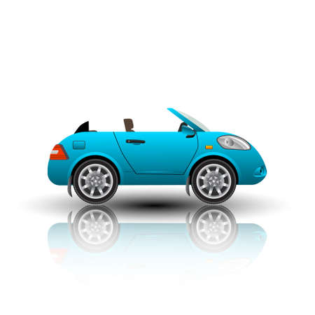 cabrio: Cabrio car icon isolated vector illustration.