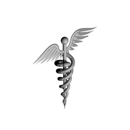 Medical symbol. Isolated on white background. 3D rendering illustration. Cartoon style. Stock Photo