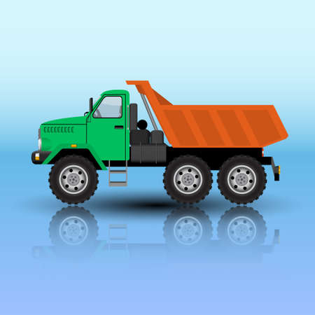 tipper truck isolated. Vector illustration.