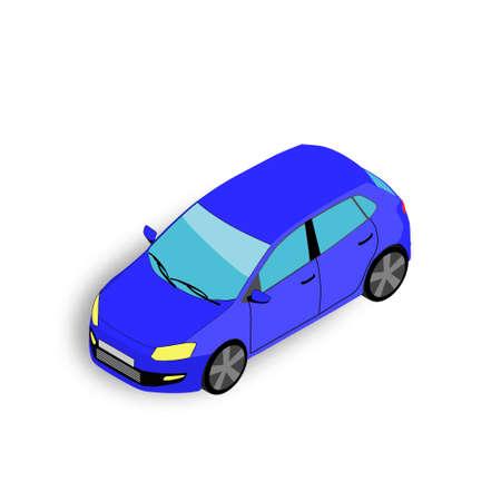 isometric 3D car. Vector illustration.