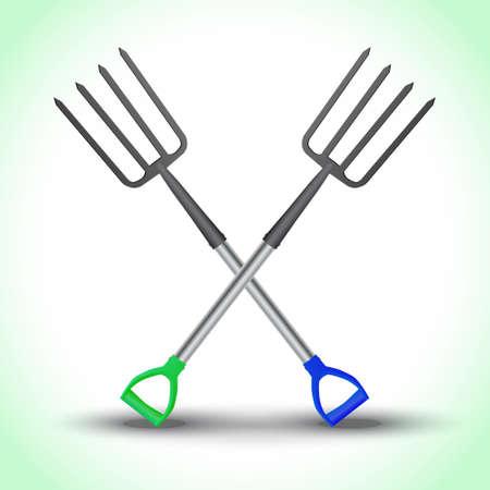 Realistic pitchfork isolated. Vector illustration Иллюстрация