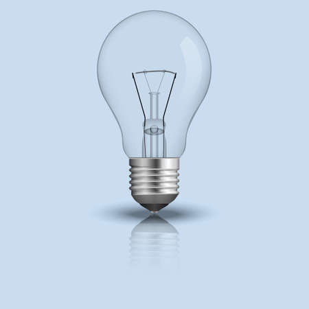 realistic light bulb. Vector illustration.