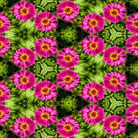 mirror image: Abstract decorative flower background. Seamless colorful pattern.