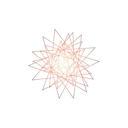 lineart: Abstract geometric shapes of lines. Isolated on white background. Vector outline illustration. Illustration