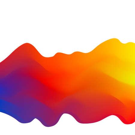 Abstracte golf achtergrond.3d Vector kleurrijke illustratie. Stock Illustratie