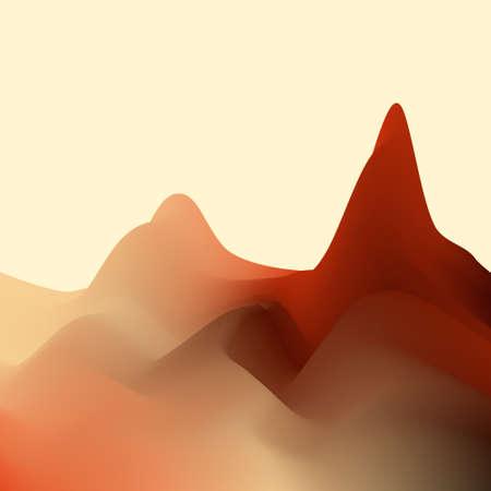 Abstract landscape.3d Vector kleurrijke illustratie. Stock Illustratie