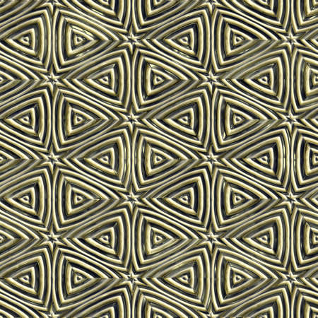 Abstract metal ornament background generated. Seamless pattern. Stock Photo