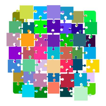직소 퍼즐. 연결이 끊긴 된 퍼즐입니다. 다채로운 벡터 일러스트 레이 션.