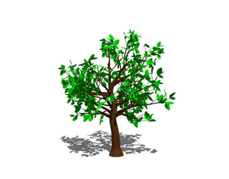 Abstract tree. Isolated on white background. 3D rendering illustration.