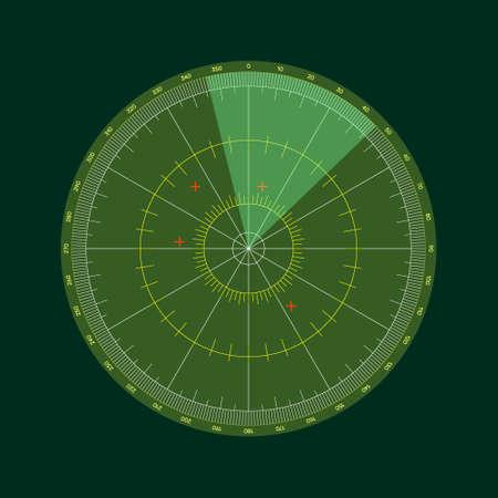 Digital radar screen.Vector illustration.