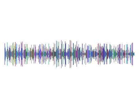 Sound wave. Isolated on white background.Vector colorful illustration.