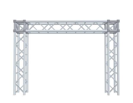 Truss construction. Isolated on white background. 3D Vector illustration. Illustration