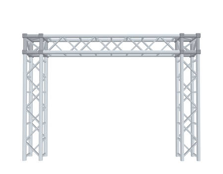 Truss construction. Isolated on white background. 3D Vector illustration. Ilustração