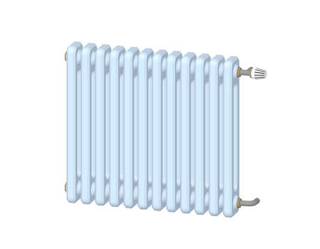 Heating radiator. Isolated on white background.3d Vector illustration. Dimetric projection.