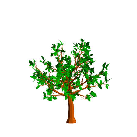 Abstract tree. Isolated on white background. 3d Vector illustration.