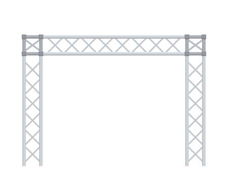 Costruzione a traliccio. Isolato su sfondo bianco. Illustrazione vettoriale 3D. Vettoriali