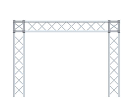 Truss construction. Isolated on white background. 3D Vector illustration. Illustration