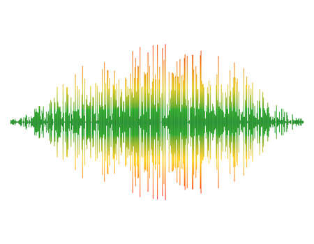 Onde sonore. Isolé sur fond blanc Illustration colorée de vecteur. Vecteurs