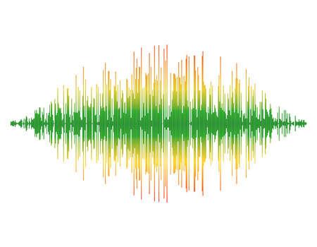 Schallwelle. Isoliert auf weißem Hintergrund. Bunte Illustration des Vektors. Vektorgrafik