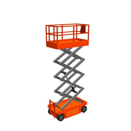 Scissors lift platform. Isolated on white background. 3d Vector illustration. Reklamní fotografie - 112237133