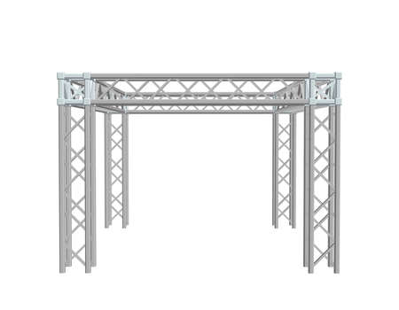 Truss construction. Isolated on white background. 3D Vector illustration. Vettoriali