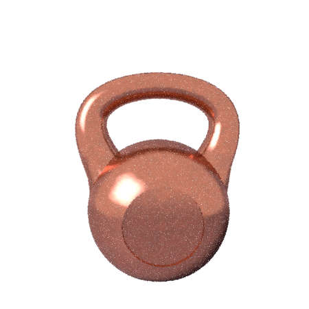 Kettlebell. Isolated on white background. Vector illustration. Pointillism style.