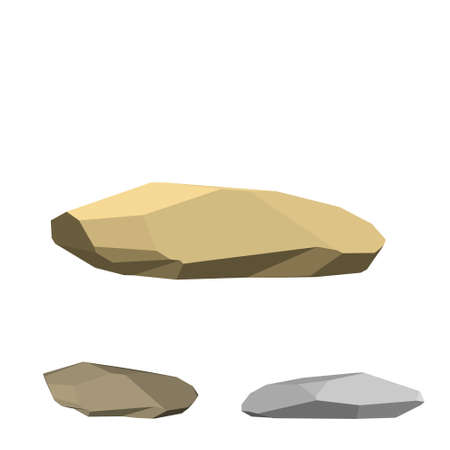 Polygonal stone. Isolated on white background.3d Vector illustration. Imagens - 110466049